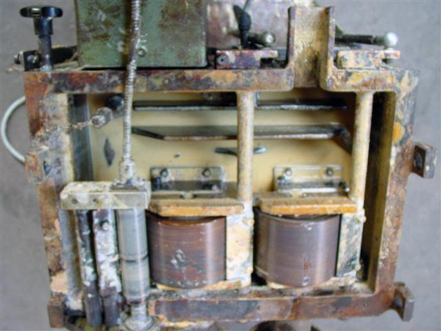 Leimwanne Trockeneisstrahl bevor reinigung oben Reinigung mit der Trockeneis Strahltechnik