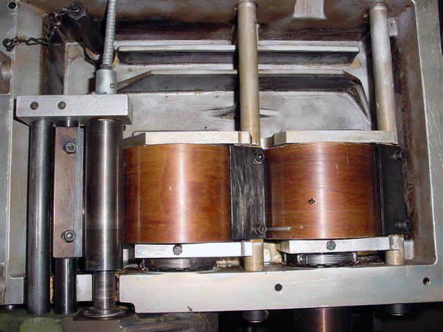 Leimwanne Trockeneisstrahl gereinigt oben Reinigung mit der Trockeneis Strahltechnik