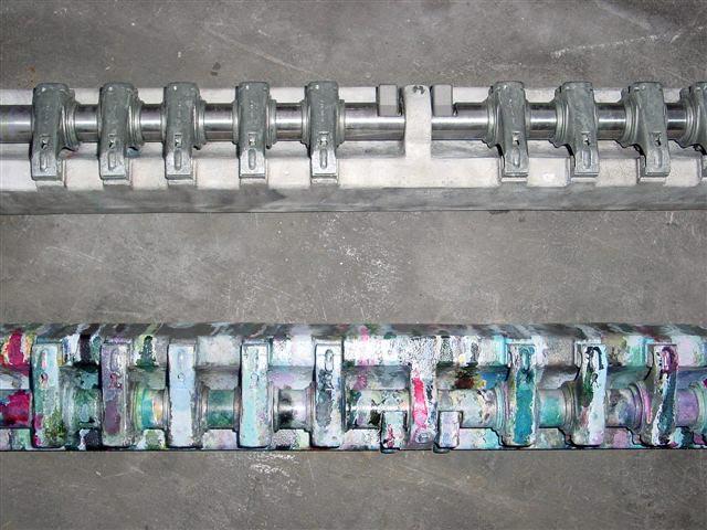 Leimwanne Trockeneisstrahl gereinigt vergleich Reinigung mit der Trockeneis Strahltechnik
