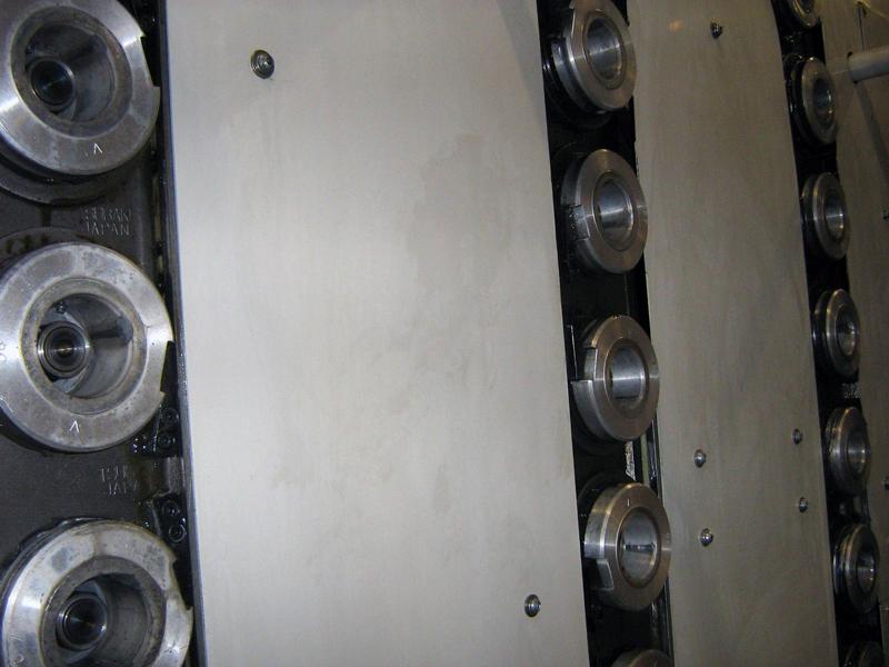 Produktionsanlage gereingt Trockeneisstrahl detail Reinigung mit der Trockeneis Strahltechnik